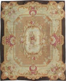 Antique Aubusson Carpet, No. 13089 - Galerie Shabab