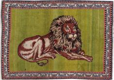 Vintage Gabbeh Pictorial Rug, No. 13415 - Galerie Shabab