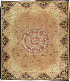 Antique Aubusson Carpet, No. 13841 - Galerie Shabab