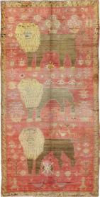 Antique Karabagh Pictorial Rug, No. 14195 - Galerie Shabab