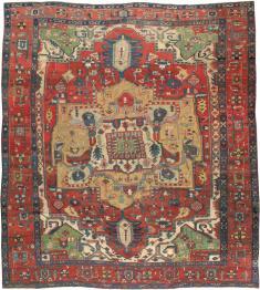 Antique Heriz Carpet, No. 14272 - Galerie Shabab