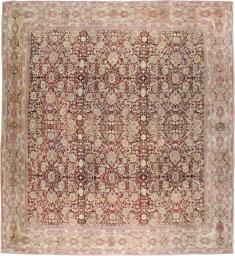 Antique Agra Square Carpet, No. 14425 - Galerie Shabab