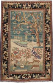 Antique Mashad Pictorial Rug, No. 14545 - Galerie Shabab