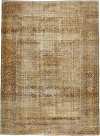Antique Distressed Mahal Carpet, No. 14948 - Galerie Shabab