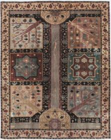 Antique Lahore Square Rug, No. 15223 - Galerie Shabab