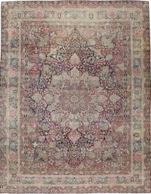 Antique Lavar Kerman Carpet, No. 15532 - Galerie Shabab