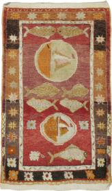 Vintage Anatolian Pictorial Rug, No. 15917 - Galerie Shabab