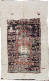 Vintage Ghiordes Rug, No. 15970 - Galerie Shabab