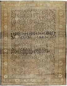 Antique Mahal Distressed Carpet, No. 17103 - Galerie Shabab