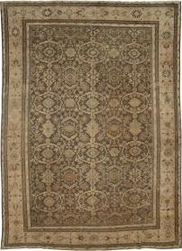 Antique Distressed Mahal Carpet, No. 17104 - Galerie Shabab