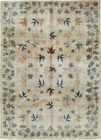 Vintage Mashad Modernist Carpet, No. 17159 - Galerie Shabab