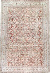Antique Cotton Agra Carpet, No. 17242 - Galerie Shabab