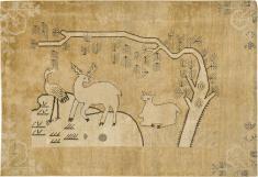 Antique Khotan Pictorial Rug, No. 17658 - Galerie Shabab