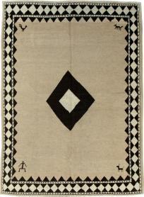 Vintage Gabbeh Rug, No. 18029 - Galerie Shabab
