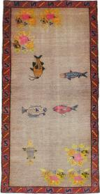 Vintage Anatolian Pictorial Carpet, No. 18038 - Galerie Shabab