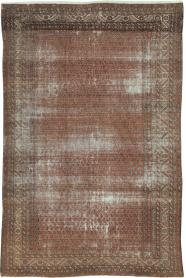 Antique Malayer Distressed Carpet, No. 18163 - Galerie Shabab