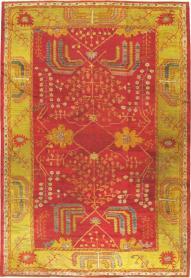 Antique Oushak Carpet, No. 18352 - Galerie Shabab