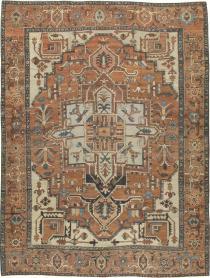 Antique Serapi Carpet, No. 18490 - Galerie Shabab