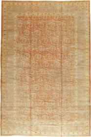 Antique Oushak Carpet, No. 18569 - Galerie Shabab