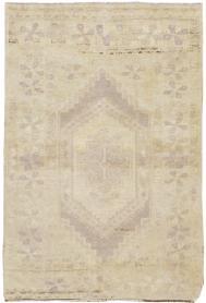 Vintage Oushak Rug, No. 18606 - Galerie Shabab