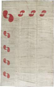 Vintage Mashad Deco Carpet, No. 18665 - Galerie Shabab