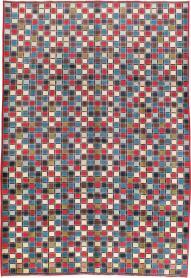 Vintage Kashan Modernist Rug, No. 18687 - Galerie Shabab