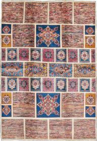 Vintage Mashad Carpet, No. 18790 - Galerie Shabab