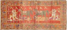 Antique Karabagh Pictorial Rug, No. 18892 - Galerie Shabab