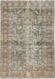 Antique Distresed Mahal Rug, No. 18894 - Galerie Shabab