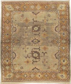 Antique Oushak Square Carpet, No. 18897 - Galerie Shabab