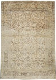 Antique Kashan Carpet, No. 19026 - Galerie Shabab