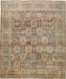 Antique Lavar Kerman Carpet, No. 19100 - Galerie Shabab