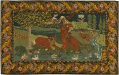 Vintage Pictorial Kilim, No. 19103 - Galerie Shabab