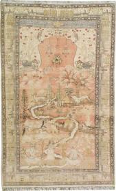 Antique Kayseri Pictorial Carpet, No. 19264 - Galerie Shabab