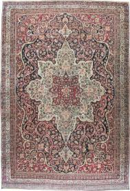 Antique Lavar Kerman Carpet, No. 20226 - Galerie Shabab