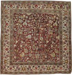 Antique Square Mashad Carpet, No. 20328 - Galerie Shabab