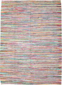 Vintage Rag Rug, No. 20340 - Galerie Shabab