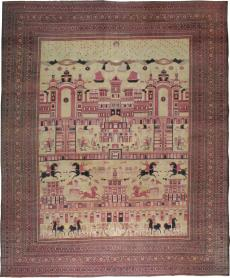 Antique Dorokhsh Pictorial Carpet, No. 20362 - Galerie Shabab