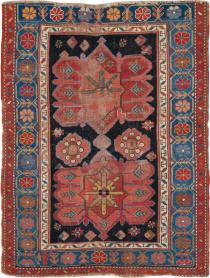Antique Kazak Distressed Rug, No. 20526 - Galerie Shabab