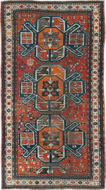 Antique Kazak Distressed Rug, No. 20529 - Galerie Shabab