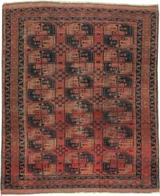 Antique Beshir Distressed Rug, No. 20536 - Galerie Shabab