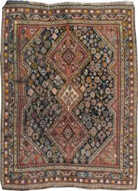 Antique Shiraz Distressed Rug, No. 20573 - Galerie Shabab