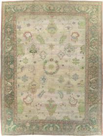 Antique Turkish Oushak Rug, No. 20585 - Galerie Shabab