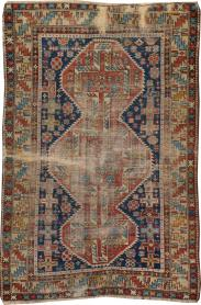Antique Caucasian Distressed Rug, No. 20859 - Galerie Shabab