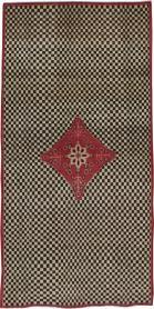 Vintage Kashan Deco Carpet, No. 21023 - Galerie Shabab