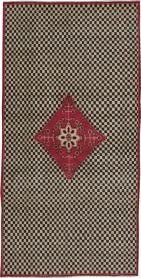 Vintage Kashan Deco Carpet, No. 21024 - Galerie Shabab