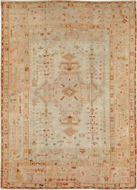 Antique Oushak Carpet, No. 21173 - Galerie Shabab
