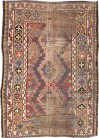 Antique Kurdish Distressed Rug, No. 21178 - Galerie Shabab