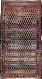 Vintage Kashan Modernist Rug, No. 21259 - Galerie Shabab
