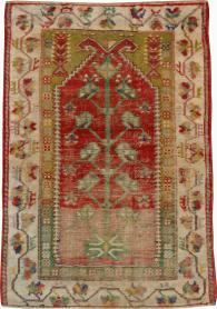 Vintage Oushak Rug, No. 21412 - Galerie Shabab